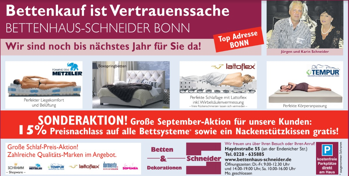 Angebot September Bettenhaus